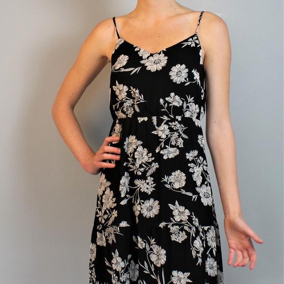J. Crew Dresses & Skirts - J. Crew Black floral maxi dress
